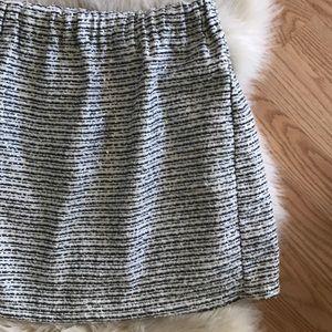 Piperlime gathered shiny mini skirt